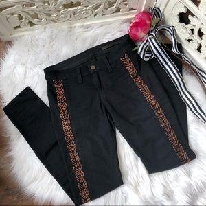 Rag & Bone Copper Embroidered Skinny Jeans